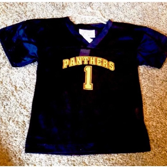 """newest d0900 aef1e Kids Black & Orange """"Panthers"""" Football Jersey NWT Boutique"""